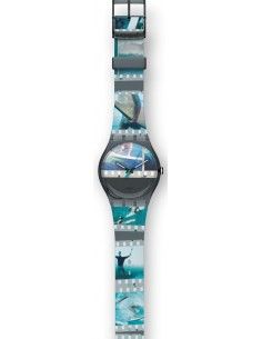 Chic Time | Montre Swatch SUOZ141 Bleu  | Prix : 23,60€