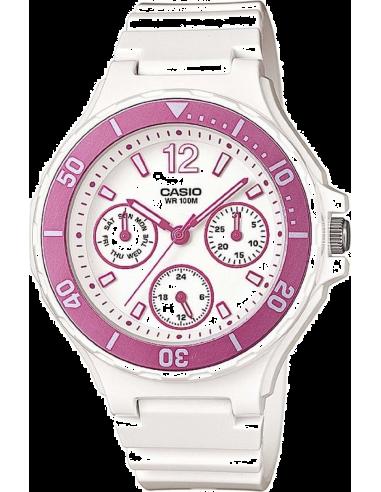 Chic Time | Montre Femme Casio Collection LRW-250H-4AVEF Blanc  | Prix : 52,99€