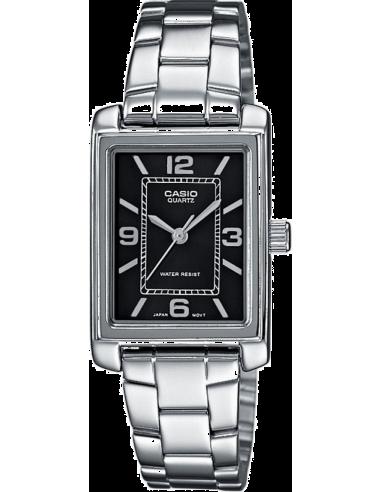 Chic Time | Montre Femme Casio Collection LTP-1234D-1AEF Argent  | Prix : 28,90€