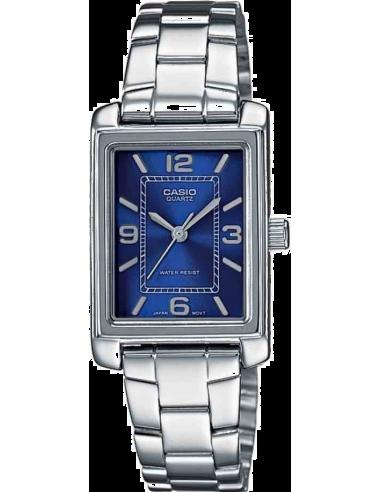 Chic Time | Montre Femme Casio Collection LTP-1234D-2AEF Argent  | Prix : 28,90€