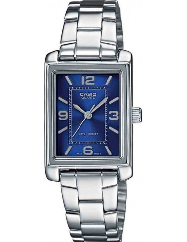 Chic Time | Montre Femme Casio Collection LTP-1234D-2AEF Argent  | Prix : 28,90 €