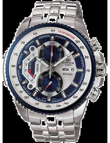 Chic Time | Montre Homme Casio EF-558D-2AVDF Edifice Lunette Bleue  | Prix : 169,90€