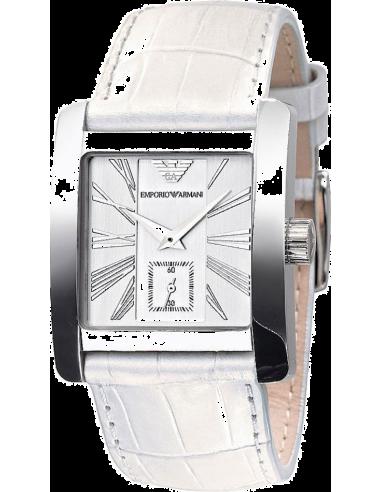 Chic Time   Montre Femme Emporio Armani Classic Collection AR0183 Cuir Blanc    Prix : 229,00€