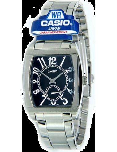 Chic Time   Montre Homme Casio MTP-1271D-1BDF Argent Boîtier rectangle    Prix : 49,90€