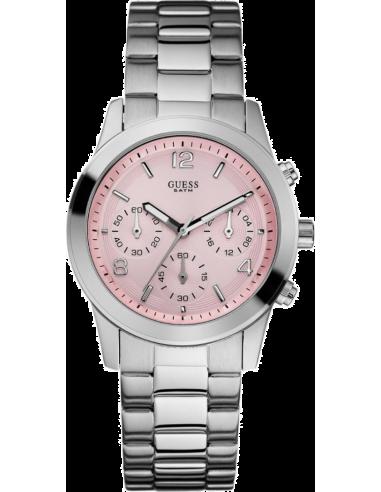 Chic Time | Montre Femme Guess U12605L3 Bracelet acier cadran rose  | Prix : 149,90€