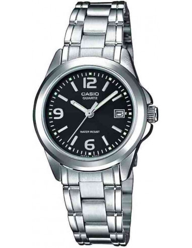 Chic Time | Montre Femme Casio Collection LTP-1259D-1AEF Argent  | Prix : 23,90€