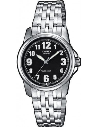 Chic Time | Montre Femme Casio Collection LTP-1260D-1BEF Argent  | Prix : 29,00 €