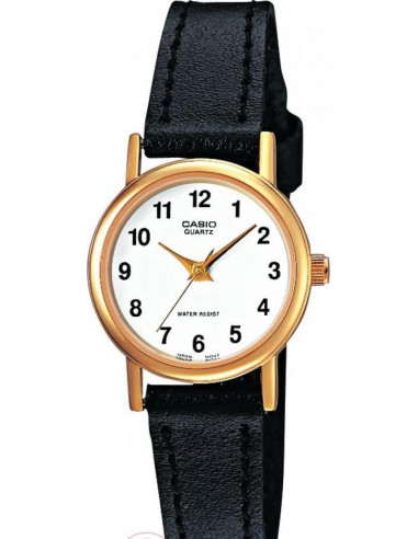 Chic Time | Montre Femme Casio Collection LTP-1261Q-7BEF Bracelet Cuir Noir  | Prix : 57,90 €