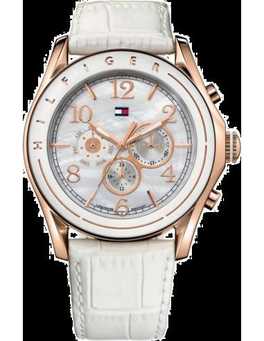 Chic Time   Montre Femme Tommy Hilfiger 1781051 bracelet cuir blanc    Prix : 209,00€