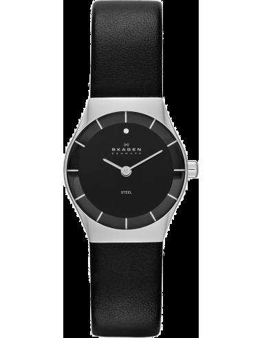 Chic Time | Montre Femme Skagen Classique SKW2048 Bracelet Cuir Noir  | Prix : 119,90€
