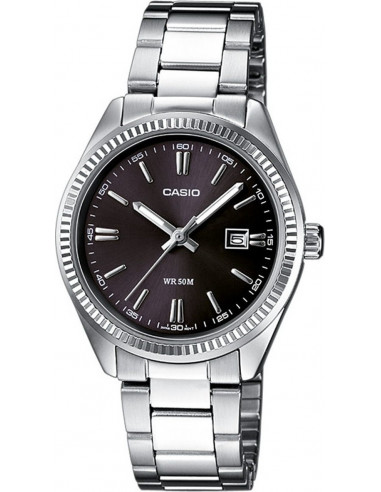 Chic Time | Montre Femme Casio Collection LTP-1302D-1A1VEF Argent  | Prix : 33,50€