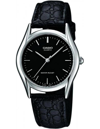 Chic Time | Montre Homme Casio Collection MTP-1154E-1AEF Bracelet Cuir Noir  | Prix : 25,00€