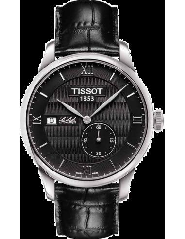 Chic Time | Montre Homme Tissot Le Locle petite seconde T0064281605800 - Bracelet cuir noir  | Prix : 690,00€