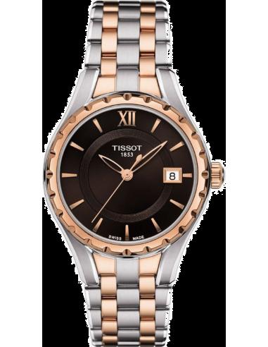 Chic Time | Montre Femme Tissot LADY T072 T0722102229800 - Bracelet en acier or rose et argenté  | Prix : 495,00€