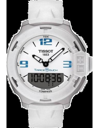 Chic Time | Montre Homme Tissot T-Race Touch T0814201701701 bracelet caoutchouc blanc  | Prix : 440,00€
