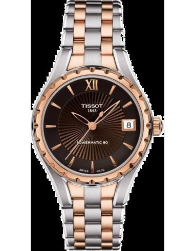 Chic Time | Montre Femme Tissot LADY T072 T0722072229800 - bracelet acier doré rose et argenté  | Prix : 745,00€