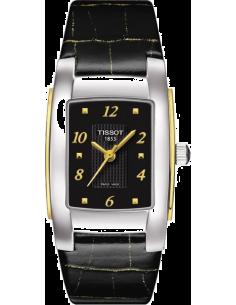 Chic Time   Montre Femme Tissot T-10 T0733102605700 - bracelet cuir noir    Prix : 179,00€