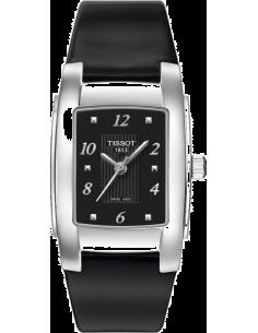 Chic Time   Montre Femme Tissot T-10 T0733101605700- Bracelet Cuir Noir    Prix : 325,00€