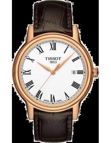 Chic Time | Montre Homme Tissot Carson T0854103601300 Bracelet Cuir Marron  | Prix : 320,00€
