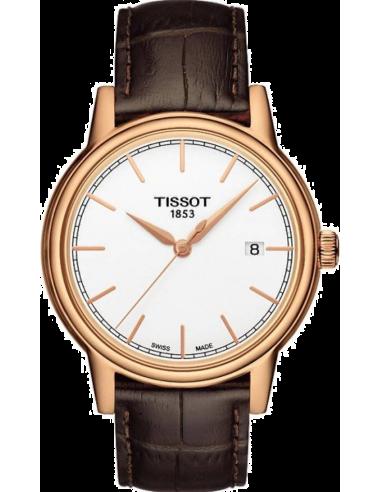 Chic Time | Montre Homme Tissot Carson T0854103601100 Bracelet Cuir Marron  | Prix : 320,00€