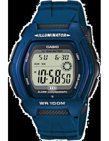Chic Time | Montre homme Casio HDD-600C-2AVES bracelet résine bleu  | Prix : 33,00€