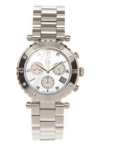Chic Time | Montre Femme Guess Collection GC Diver Chic X42108M1S Ornée de 8 diamants  | Prix : 855,00€