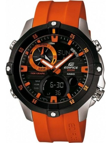 Chic Time | Montre Homme Casio Edifice EMA-100B-1A4VUEF Orange  | Prix : 219,00 €