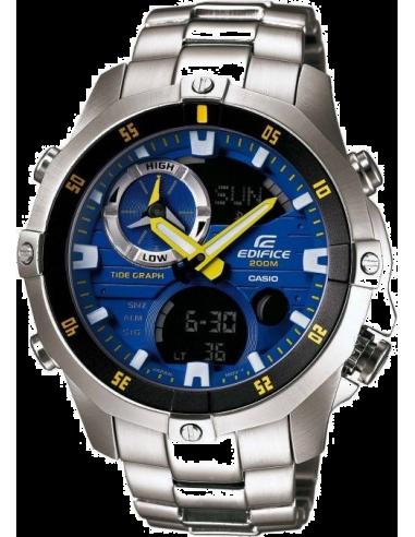 Chic Time | Montre homme Casio Edifice EMA-100D-2AVUEF cadran bleu  | Prix : 199,00€