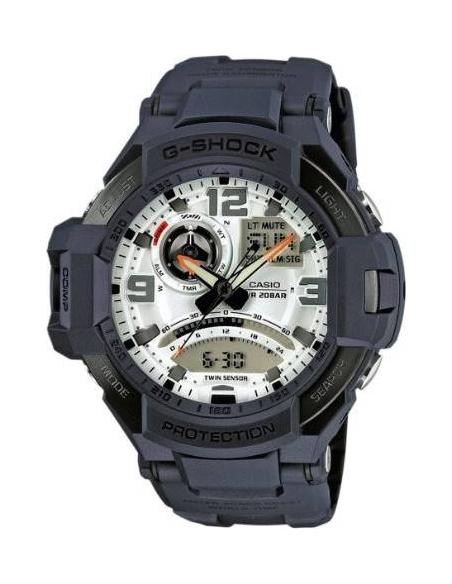 Chic Time | Montre Homme Casio G-Shock GA-1000-2AER Bleue Chronographe  | Prix : 174,30€