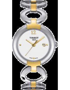 Chic Time | Montre Femme Tissot T0842102201700 Pinky - Bracelet acier inoxydable et revêtement or  | Prix : 350,00€