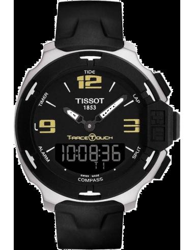 Chic Time | Montre Homme Tissot T-Race Touch T0814201705700 Bracelet caoutchouc noir  | Prix : 480,00€