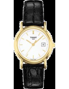 Chic Time | Montre Femme Tissot Carson T71312911 Bracelet Cuir Noir  | Prix : 1,070.00