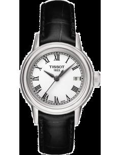 Chic Time   Montre Femme Tissot Carson T0852101601300 - Bracelet Cuir Noir    Prix : 234,00€