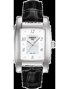 Chic Time | Montre Femme Tissot T-10 T0733101611600 Bracelet Cuir Noir  | Prix : 449,99€