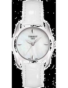 Chic Time | Montre Femme Tissot T-Wave T0232101611100 - Braceler cuir blanc  | Prix : 260,00€