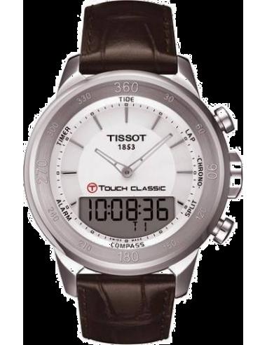 Chic Time | Montre Homme Tissot T-Touch Classic T0834201601100 - Bracelet marron en cuir  | Prix : 565,00€