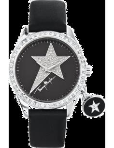 Chic Time | Montre Femme Thierry Mugler 4708102 bracelet cuir noir et breloque - Prix : 129,00 €