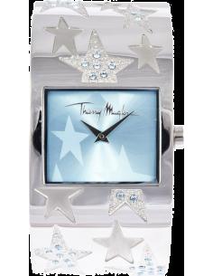 Chic Time | Montre Femme Thierry Mugler 4712301 Bracelet large en acier argenté et étoilé - Prix : 96,90 €
