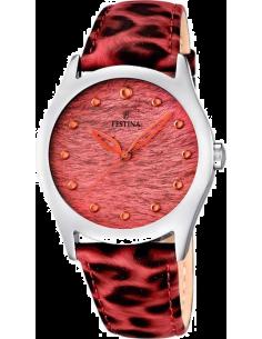 4704a2c4dbd877 Chic Time   Montre Femme Festina Lady F16648 3 Bracelet cuir léopard tons  roses