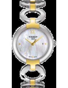 Chic Time | Montre Femme Tissot Pinky T0842102211700 Bracelet en acier inoxydable bicolore  | Prix : 325,00€