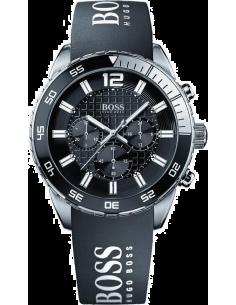 Chic Time | Montre Homme Hugo Boss Iconic 1512868 Bracelet noir en caoutchouc  | Prix : 399,00€