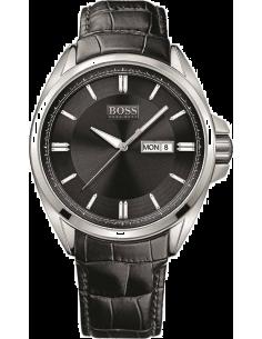 Chic Time | Montre Homme Hugo Boss Sport 1512874 Cuir Noir Imitation Croco  | Prix : 305,15€