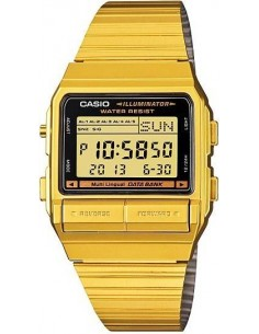 Chic Time | Montre Homme Casio Data Bank DB-380G-1DF Or  | Prix : 69,90 €