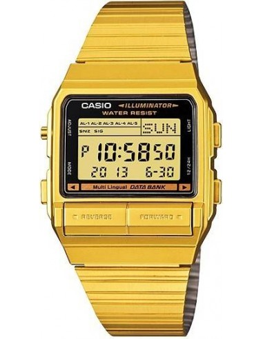 Chic Time | Montre Homme Casio Data Bank DB-380G-1DF Or  | Prix : 69,90€