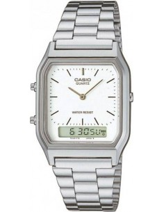 Chic Time | Montre Casio Collection Retro AQ-230A-7DMQYES Argent  | Prix : 40,00 €