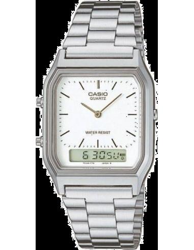 Chic Time | Montre Casio Collection Retro AQ-230A-7DMQYES Argent  | Prix : 40,00€