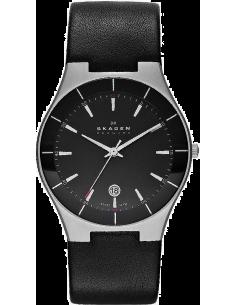 Chic Time | Montre Homme Skagen Aktiv SKW6039 bracelet noir en cuir  | Prix : 115,00€