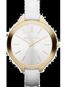 Chic Time | Montre Femme Michael Kors MK2273 Bracelet en cuir blanc  | Prix : 186,15€