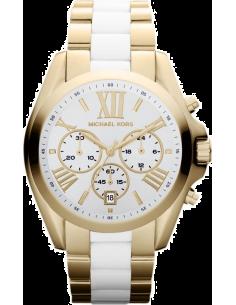 Chic Time | Montre Femme Michael Kors Bradshaw MK5743 Bracelet doré et blanc en acier  | Prix : 271,15€