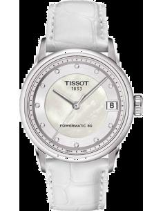 Chic Time   Montre Femme Tissot Luxury Automatic Lady T0862071611600 Bracelet en cuir blanc    Prix : 779,00€